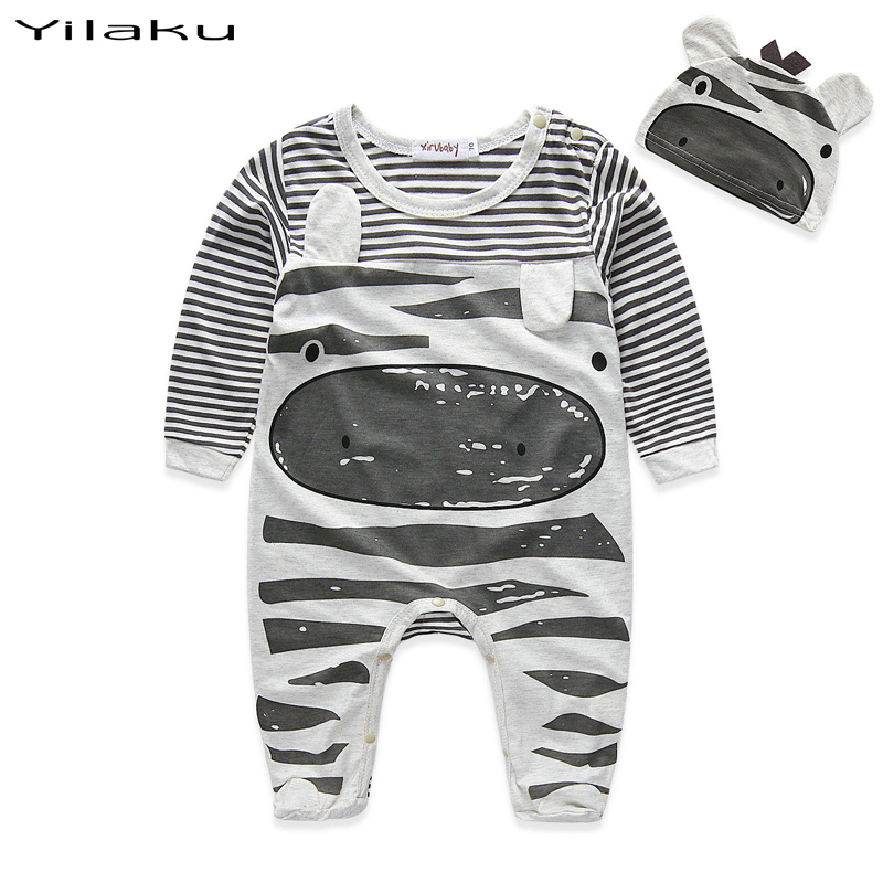 Unisex Baby Rompers Clothing Set Toddler Boys Girls Cartoon Jumpsuits Newborn Infant One-pieces+Hat New Born Baby Clothes CF370(China (Mainland))