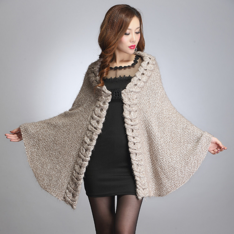 2014 fall fashion women shawl trend mohair knitting coat long warm casual sweaters womens poncho cardigans - free city store