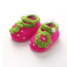 29 types Handmade Crochet Quality yarn knitted cute baby shoes toddler infant baby boy girl first walkers soft Newborn(China (Mainland))