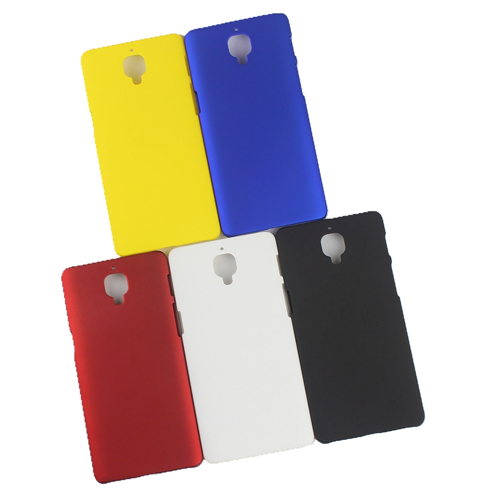 Rubber Plastic Hard Ultrathin Frosted Shield Matte Case OnePlus Three 3 3T A3000 Back Cover Colorful Phone Cases Shell