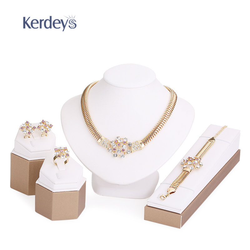 beads jewelry sets summer style gold plated bridal wedding accessories
