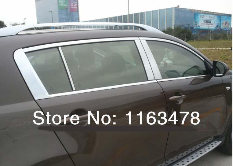 For Kia Sportage 2010 2011 2012 2013 2014+ Aluminium Alloy Decorative Silver Roof Rack!(China (Mainland))