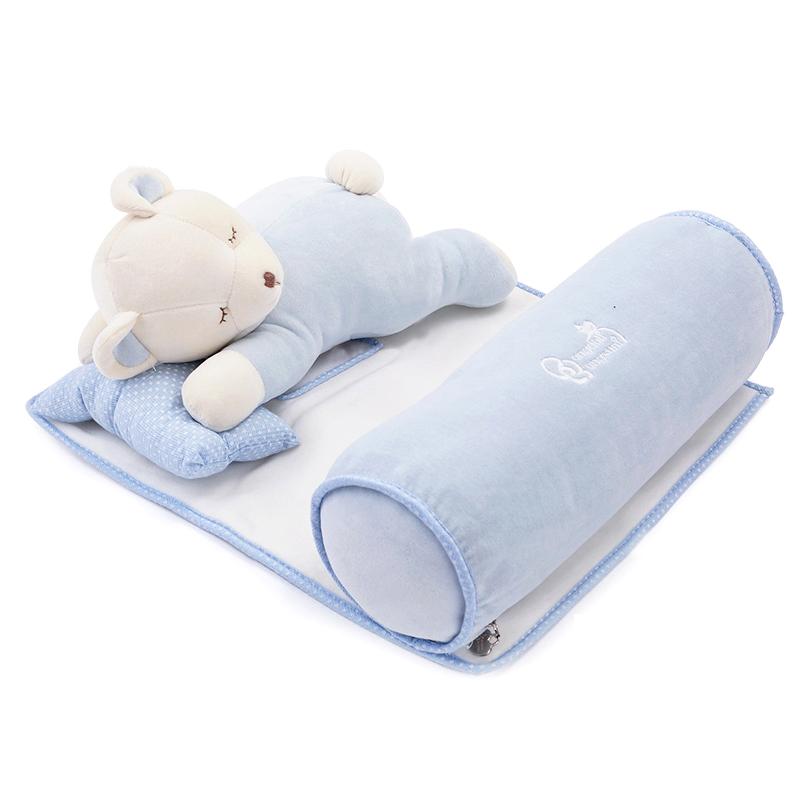Newborn infant pillow multifunctional neck protection baby bedding set sleeping pillow cartoon baby toys(China (Mainland))