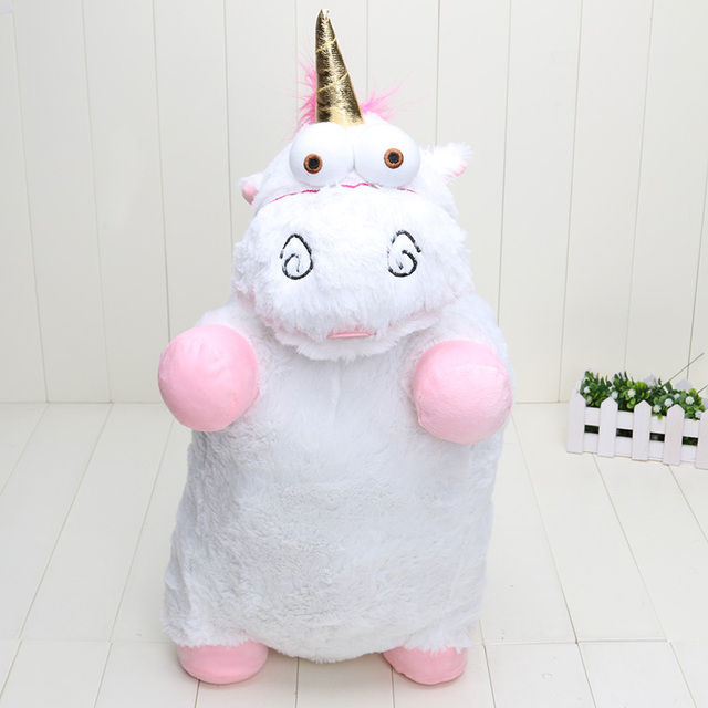1piece 22 inch Despicable Me Fluffy Unicorn Plush Pillow Toy Doll big Fluffy figure gift
