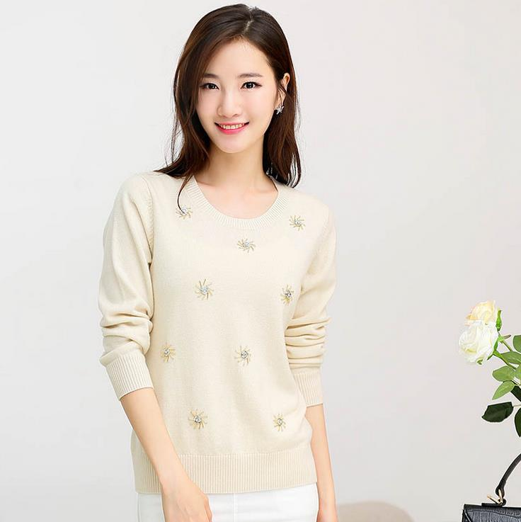 100% Wool Sweater Women Sweaters and Pullovers Fashion o Neck Solid Color pull femme Long sleeve M-XXL Knitted Sweater pullover