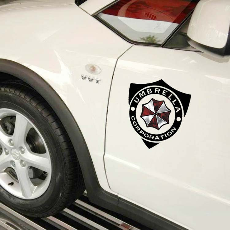 Car styling stikers Resident Evil Personalized Umbrella Corporation cars door stickers and decals for vw fiat suzuki jeep(China (Mainland))