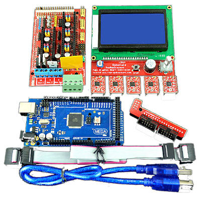 Фотография Mega2560R3 w LCD2004 Controller w A4988 RAMPS 1.4 3D Printer Kit for Arduino