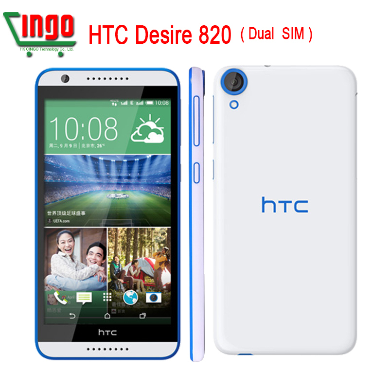 Original HTC Desire 820 HTC 820U Double 4G Otca Core 5.5 '' Android Camera 13.0MP 1280x720 13MP RAM 2GB ROM 16GB LTE Cell Phone(China (Mainland))