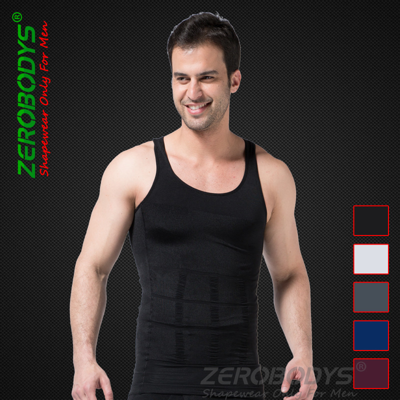 wholesale 100pcs summer men's clothing bra abdomen slimming body sculpting vest features Underwear via Express free shipping(China (Mainland))