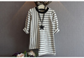 Girls striped long sleeved T shirt stitching 2016 summer new children s children s baby dress
