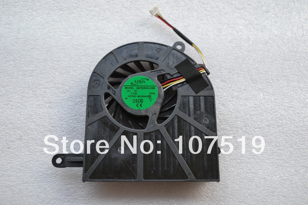 Brand New LAPTOP CPU FAN FOR ACER ASPIRE 5739 5739G Cpu Cooling Fan AB7805HX-EBB(ZK6) Free Shipping(China (Mainland))