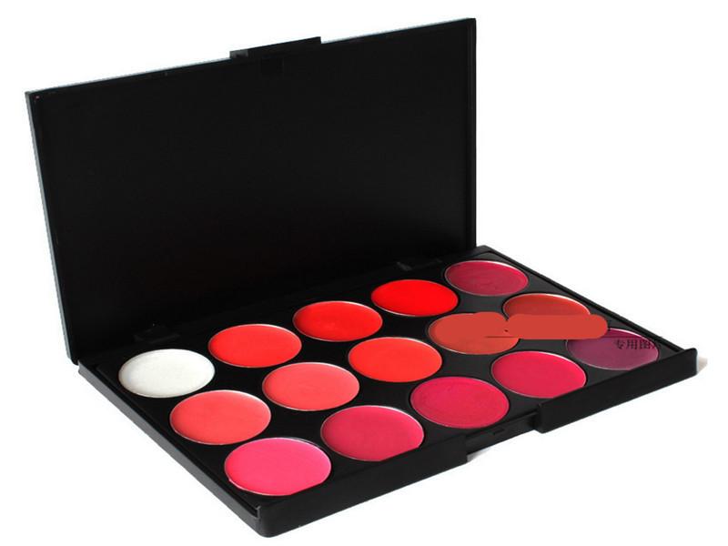 maquiagem Brand 15 Colors Delicacy Lip Palette maquiagens Brillo de labios nude lip gloss makeup tool(China (Mainland))