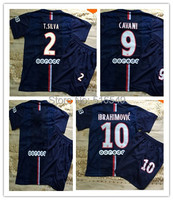Free Shipping 14/15 home navy blue soccer jerseys embroidery logo&patch  2015  home football shirts  sports wear