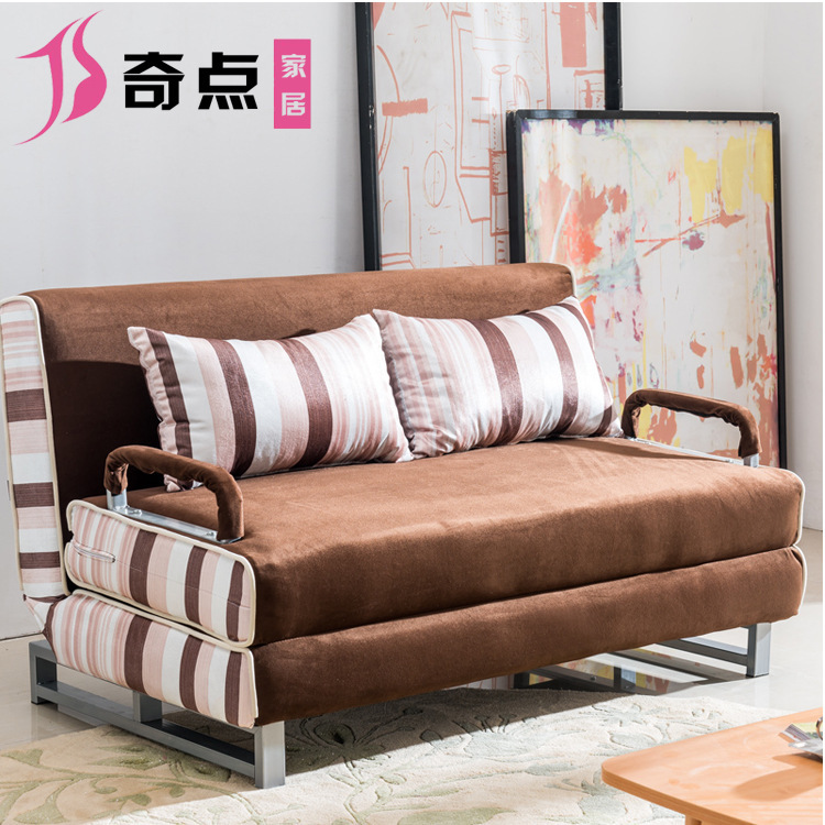 Multi-function folding sofa bed small apartment washable fabric folding sofa convertible sofa bed office lunch break(China (Mainland))