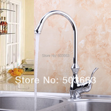 Buy Beautiful New Swivel Polished Chrome Brass Bibcock Kitchen Faucet Spout Vessel Sink Single Handle Deck Mounted Mixer Tap MF-401 for $48.75 in AliExpress store