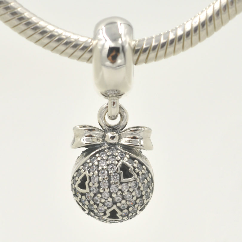 New original christmas wish dangle charm 925 sterling for Sterling silver christmas jewelry