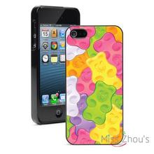 Colorful Gummy Bears Protector back skins mobile cellphone cases for iphone 4/4s 5/5s 5c SE 6/6s plus ipod touch 4/5/6