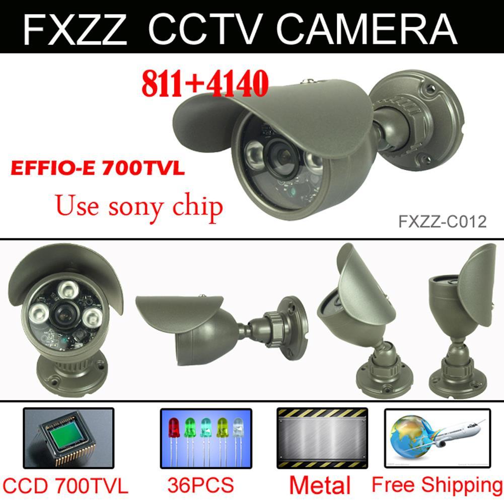 "Free shipping 1/3"" Sony Effio-e 700TVL CCTV Camera 960H 3pcs Array IR LEDS outdoor indoor waterproof Security with bracket(China (Mainland))"
