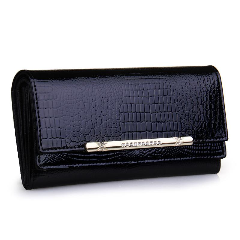 2015 luxury crocodile women wallets genuine leather high quality designer brand wallet lady fashion clutch casual womens purses(China (Mainland))