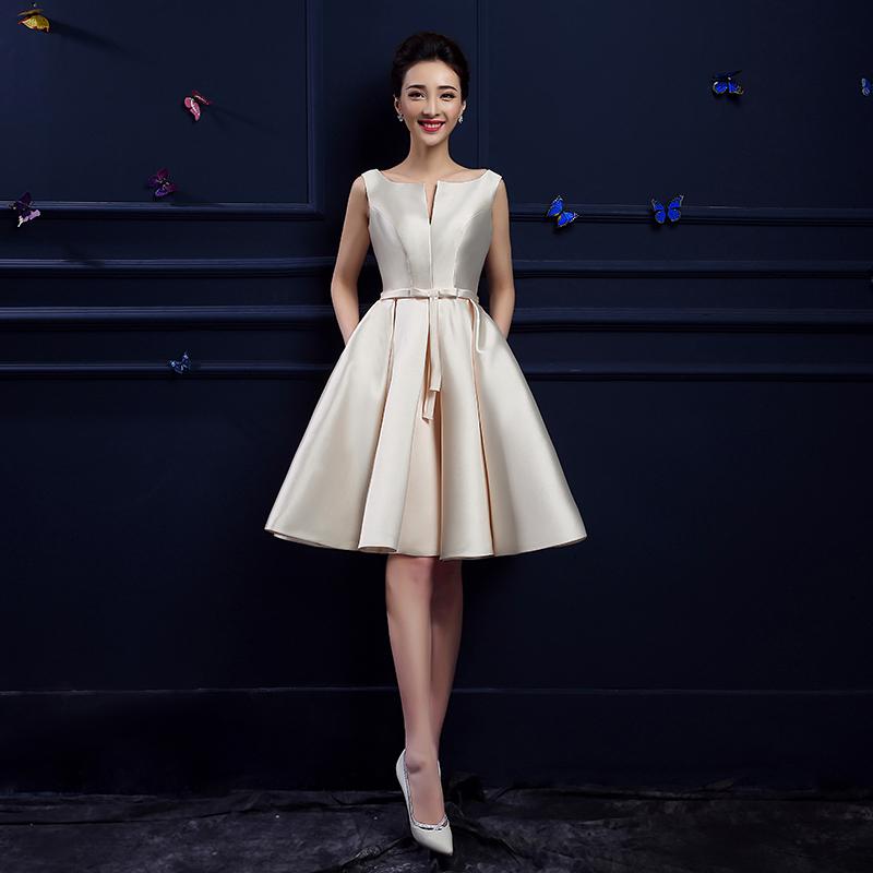 Boat Neck Shoulder Straps A-line Elegant Short Evening Dress 2015 New Arrival Formal Dresses(China (Mainland))