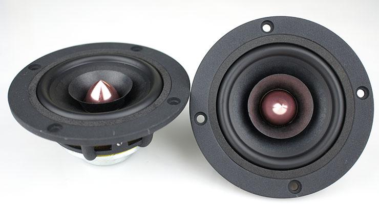 Фотография Aucharm 3inch Full Range Speaker Neodymium Magnet Mixed Paper Cone 8ohm 10-20W Pair Price