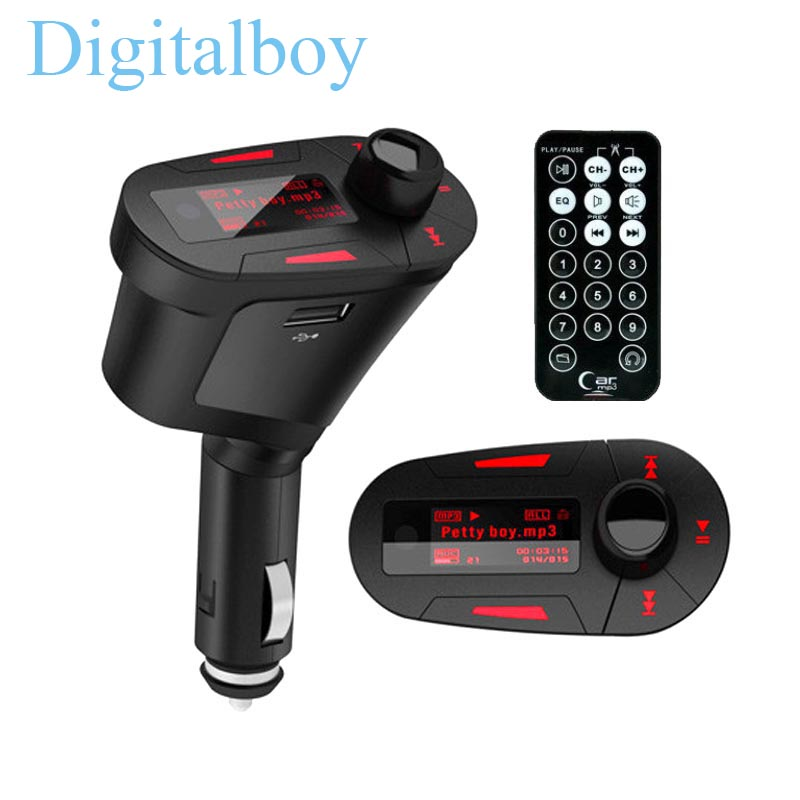 LCD Car MP3 Player Wireless Bluetooth Audio FM Transmitter Radio Modulator Car Music Player with USB Charger Adapter()