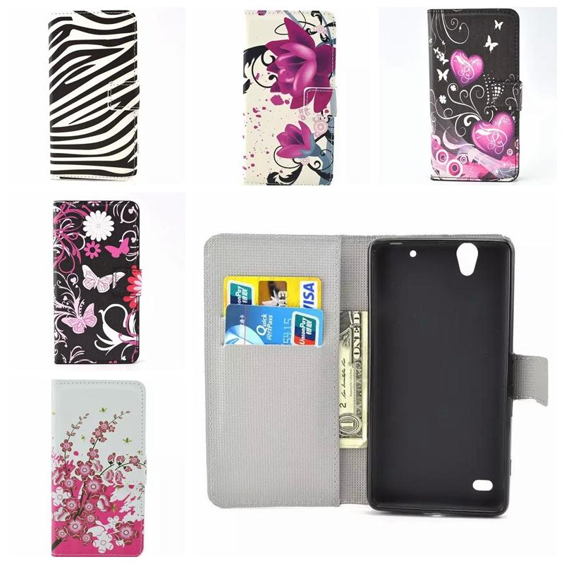 For Sony Xperia C4 case Retro Pouch wallet case E5303 FLoral Butterfly Leather Flip cases Cover(China (Mainland))