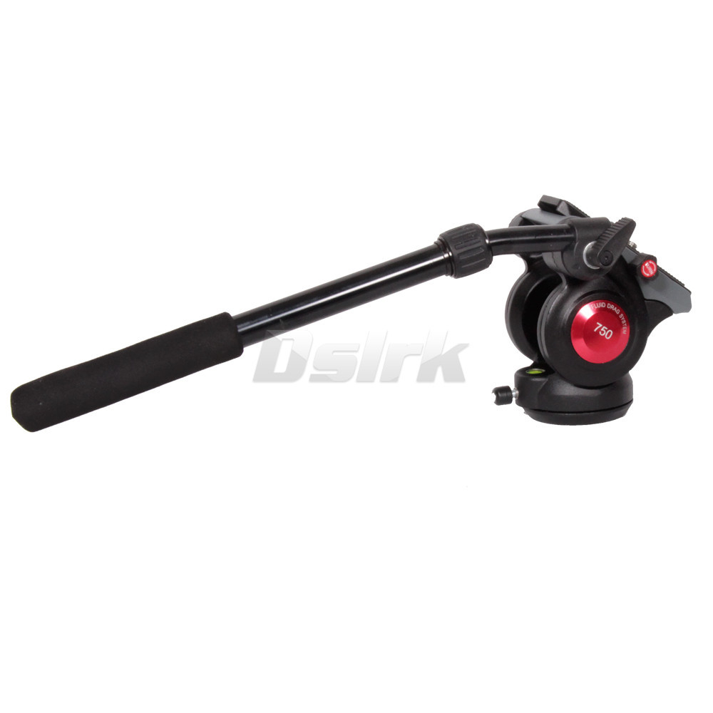 New Professional A-750B Video DSLR Camcorder Fluid Tripod Head Fluid Head with 75mm Bowl for Monopod Free Shipping(China (Mainland))