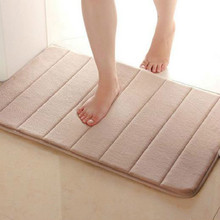 Useful 40*60cm Memory Foam Bath Mats Bathroom Horizontal Stripes Rug Absorbent Non-slip Bath Mats(China (Mainland))