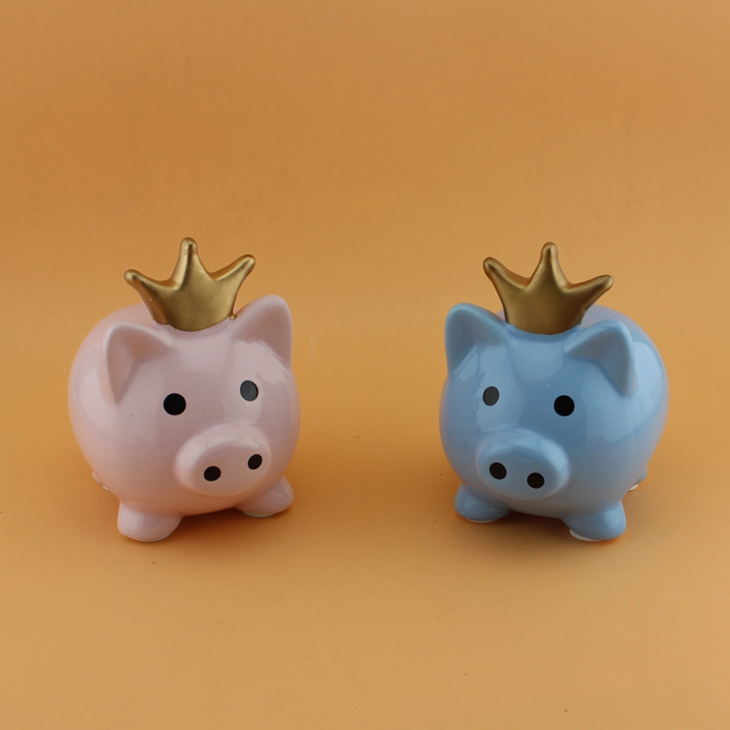 crown piggy bank
