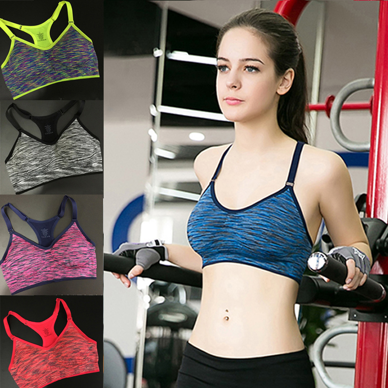Sports Bra For Running Gym Padded Wirefree Shakeproof Underwear Push Up Seamless Fitness Top Bras For Woman Summer Style SBRA04(China (Mainland))