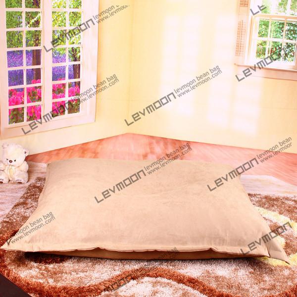 Фотография FREE SHIPPING 140*180CM bean bag chair cover cream bean bags no filling luxury suede beanbag sofa cover bean bag factory