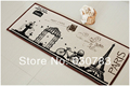 Free shipping 1 piece 140 100cm multi cartoon flax mat pattern carpet rug for bathroom door