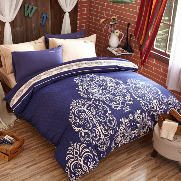 Modern 4 Pieces Pastoral Style Bedding Sets Cotton Duvet Cover Set queen size Floral print fashion Bedlinen bed sheet(China (Mainland))