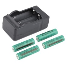 4pcs 2500mAh 14500 Batteries with US Dual Charger Dock Universal Green 3.7V Li-ion Rechargeable Battery Baterias with Charger(China (Mainland))