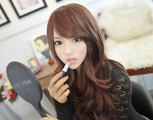 free shipping Valuable Lovely Korean Style Woman Sexy Long Curly Wavy Hair Wigs 65 cm(China (Mainland))