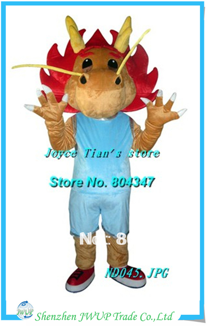 Newest cheap mascot costumes best quality dragon halloween costumes mascot costume animal plush fur mascot costume Free Shipping