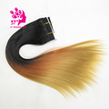 ombre synthetic hair weft straight hair weaves synthetic weft sew weave track hair extension 20inch