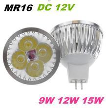 Buy Free MR16 LED Bulb Light GU5.3 Base 15W 12W 9W Lamp 12V 220V 110V Dimmable LED Spotlight Downlight Warm Cool White for $15.60 in AliExpress store
