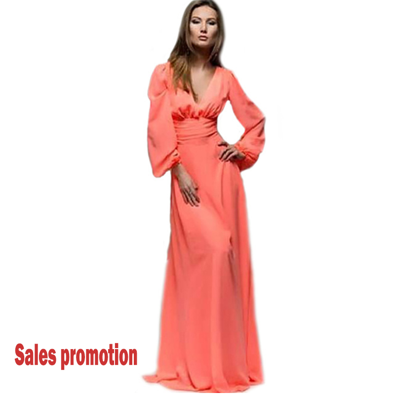 2017 Women Fashion Floor Length Dress Spring Autumn Clothing Elegant Solid Candy Color Maxi Dresses High Waist Casual Regular(China (Mainland))