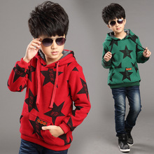 New Brand 2015 Autumn Winter Boys Thick Pullover Fashion Hoodie Jackets Cotton Sweatshirts Outwear Children's Clothing Coats(China (Mainland))