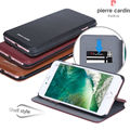 Pierre Cardin Genuine Leather Wallet Style Case Folio Flip Foldable Stand Card Slot Credit Card Cover