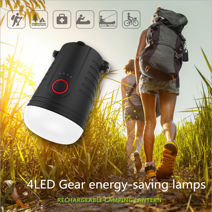 4 Modes LED Rechargeable Camping Lantern 330LM Light Power Bank USB/usb Port Portable Tent Camping Tent Outdoor Lighting
