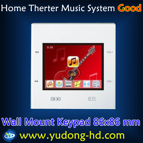 Room Music Player Wall Mount Home Theater System Speakers Amplifier SD/USB/Bluetooth Home Cinema Free Shipping(China (Mainland))