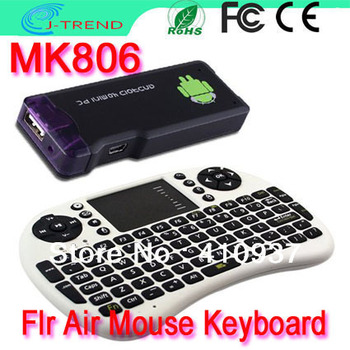 Free Shipping MK806 Dual Core RK3066 1.6GHz A9 Andriod4.1 Mini PC Smart TV box + 2.4G Wireless Air Mouse