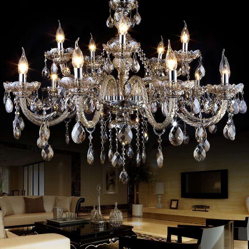 modern crystal chandelier lampshades lustres de cristal sala large crystal light chandeliers lighting lampadari moderni lamp(China (Mainland))