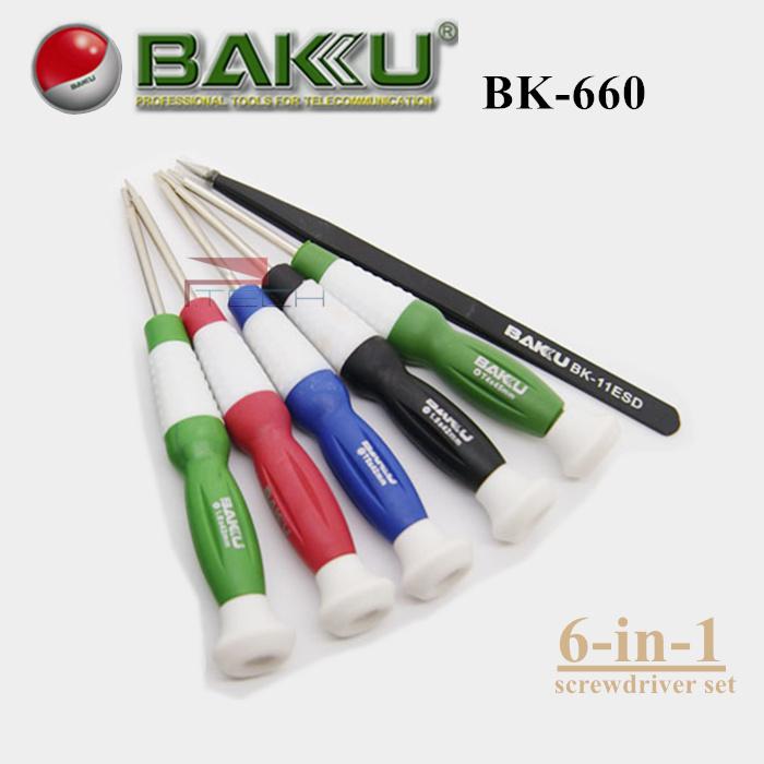 buy baku professional precision screwdriver set 6 screwdriv. Black Bedroom Furniture Sets. Home Design Ideas
