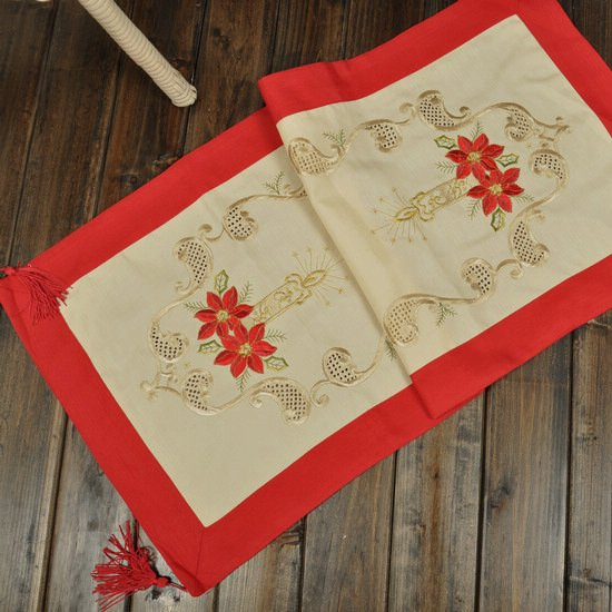Christmas table cloth/runner/placemats, 15*43 inch(40*110cm), FREE SHIPPING(China (Mainland))