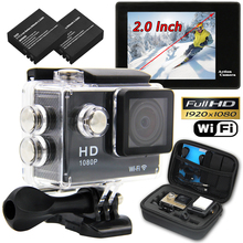 Waterproof WIFI SJ4000 N9 Sports Camera Travel Kit Action DV 1080P Full HD 2″ inch Screen High Quality Cam Set With 2Pcs Battery