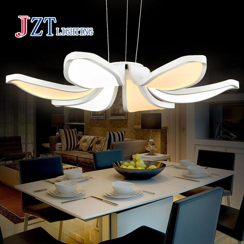 Z BEST PRICE modern Simple fashion led Acrylic Flower Pendant Coffee leisure lamp for bedroom living room restaurant study(China (Mainland))